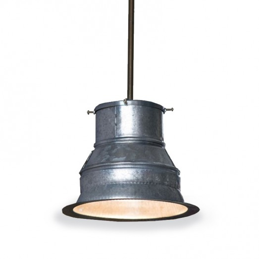 Galvanized Ceiling Light