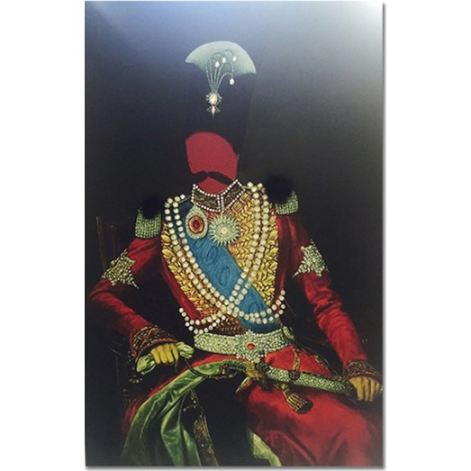 Nasser al-din shah wall art - printed on fabric