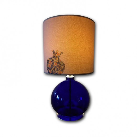 Dark Blue Pomegranate glass Table Lamp