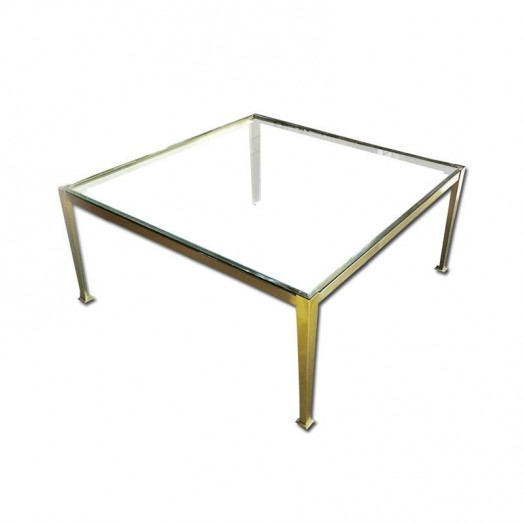 Bronze & glass coffee table
