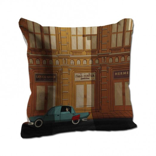 Blue car cushion