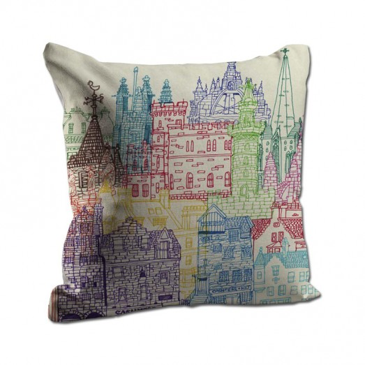 Colorful city cushion
