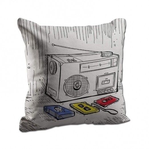 Radio & cassette cushion
