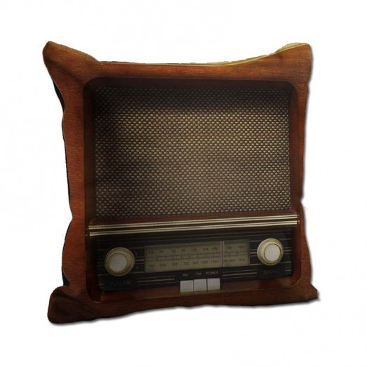 Old radio system cushion