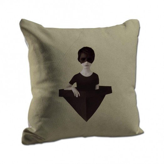 girl in a hat cushion