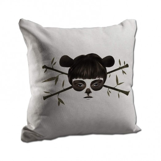 Girl with branches in her hair cushion