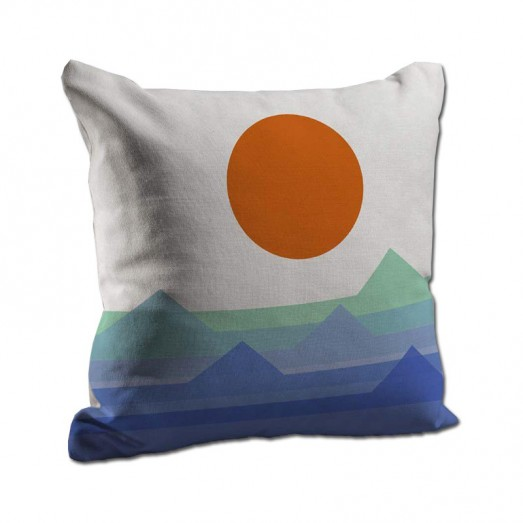 Sun and mountains cushion