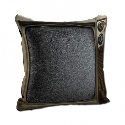 Old television cushion
