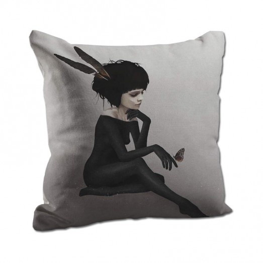 Black and white fairy cushion