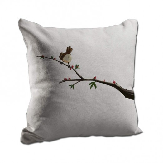 Bird on a branch cushion