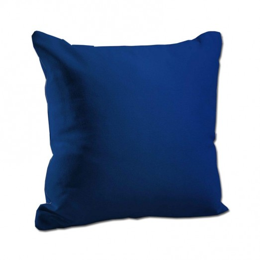 Plain blue cushion