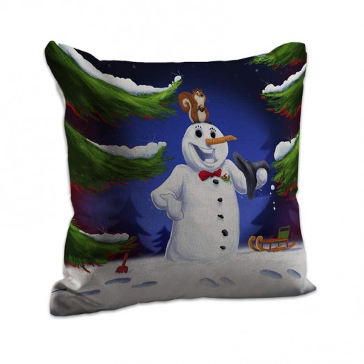 Snow man cushion