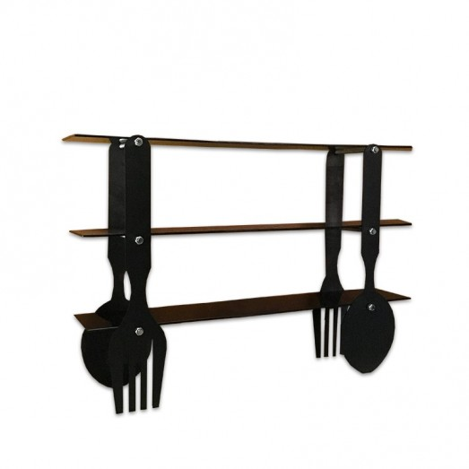 Fork and knife shaped console