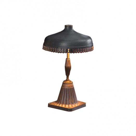 Serrated Galvanized Metal and Aluminium Table Lamp