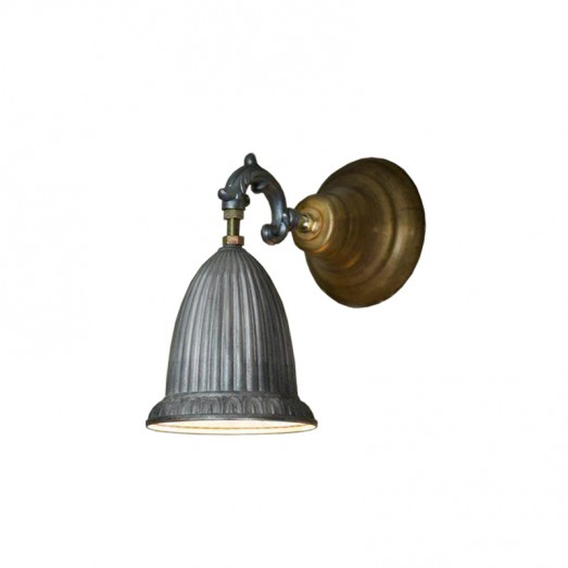 Aluminium and Brass Wall Lamp
