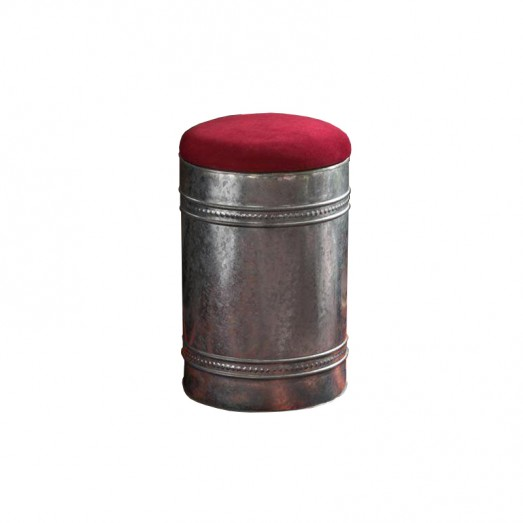 Long Galvanized Metal Ottoman