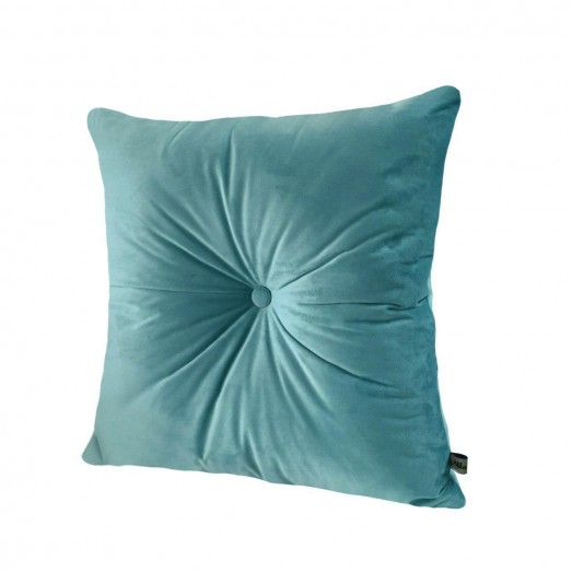blue sky velvet cushion
