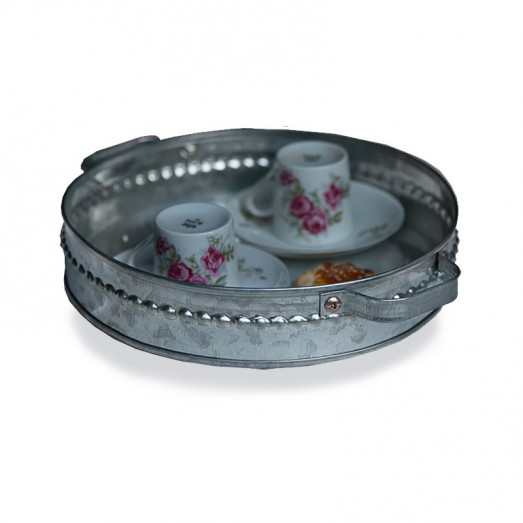 Galvanized Round Thick Tray